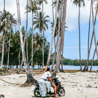 🌴 Always exploring 🏍✨ Northern Sumatra is so remote ~ it's like stepping back in time. I have never seen so many Palm trees in my life 🌴 I love this place because it is still very unknown & there is such a sense of wander there ... ☼ ☼ ☼ ☼ ☼ ☼ ☼ ☼ ☼ ☼ ☼ ☼ ☼ ☼ ☼ ☼ ☼ ☼ ☼ Where is your top pick for an escape?